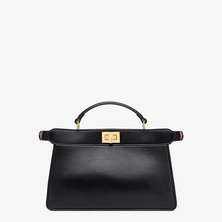 FENDI PEEKABOO ISEEU EAST-WEST - Black leather bag - view 4 detail