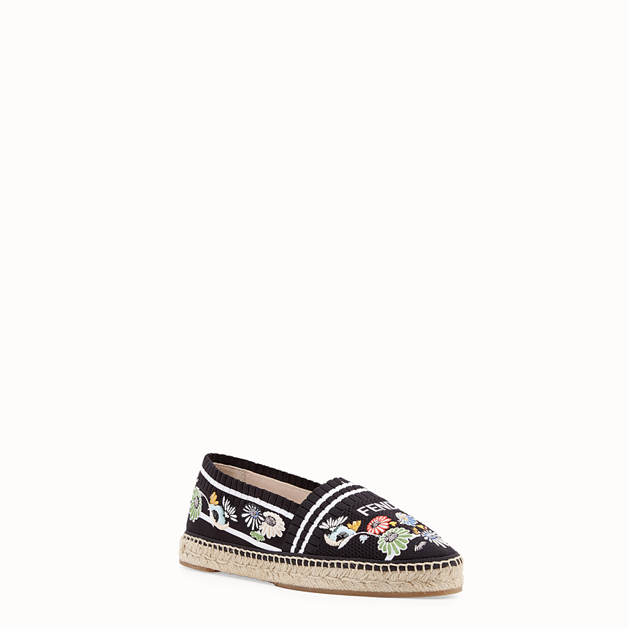 FENDI ESPADRILLES - Black fabric espadrilles - view 2 detail