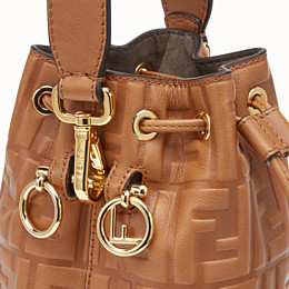 FENDI MON TRESOR - Brown leather mini-bag - view 6 thumbnail