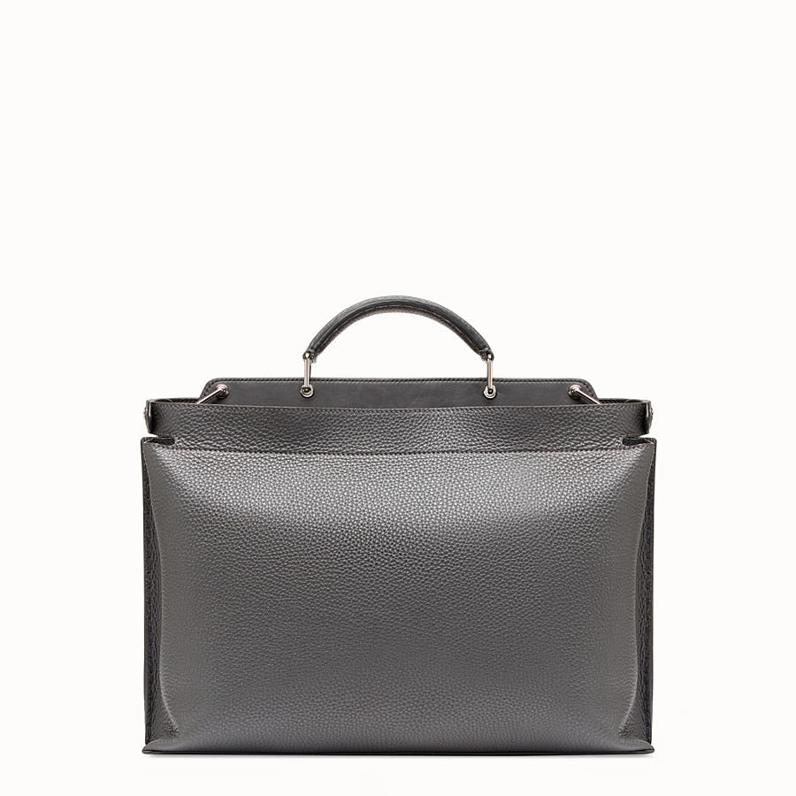 FENDI PEEKABOO ICONIC ESSENTIAL - Grey leather bag - view 3 detail