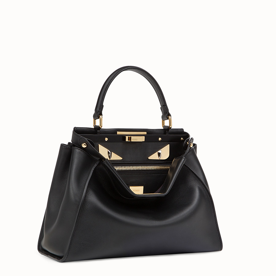 FENDI PEEKABOO REGULAR - Tasche aus Leder in Schwarz - view 2 detail