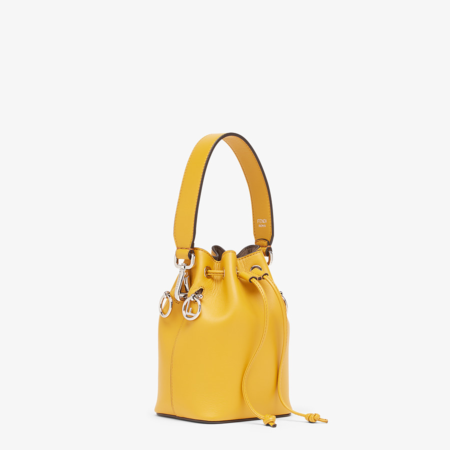 FENDI MON TRESOR - Yellow leather mini-bag - view 2 detail