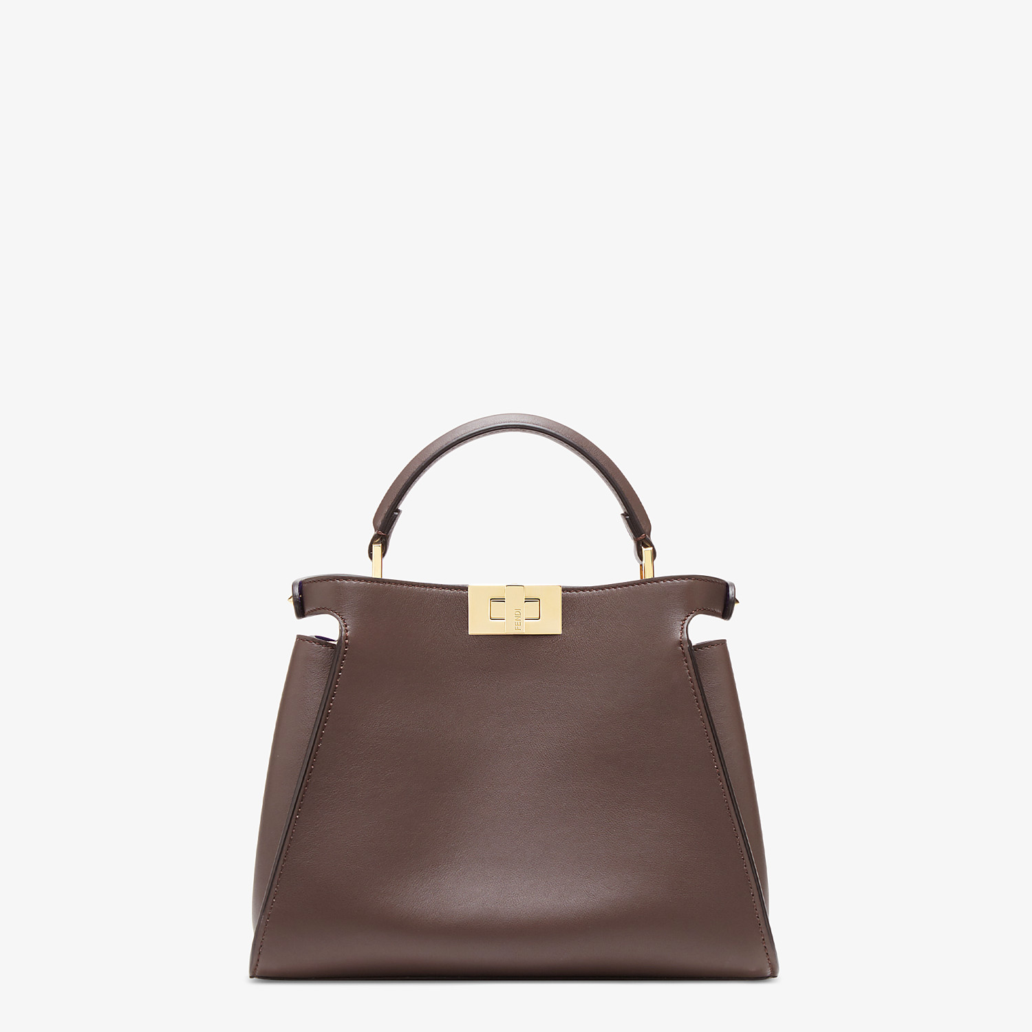 FENDI PEEKABOO ICONIC ESSENTIALLY - Brown leather bag - view 4 detail