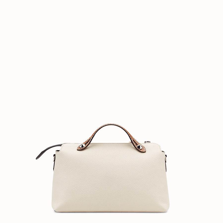 FENDI BY THE WAY REGULAR - White leather Boston bag - view 3 detail