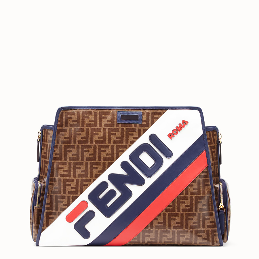 FENDI PEEKABOO DEFENDER - Glazed brown fabric cover - view 1 detail