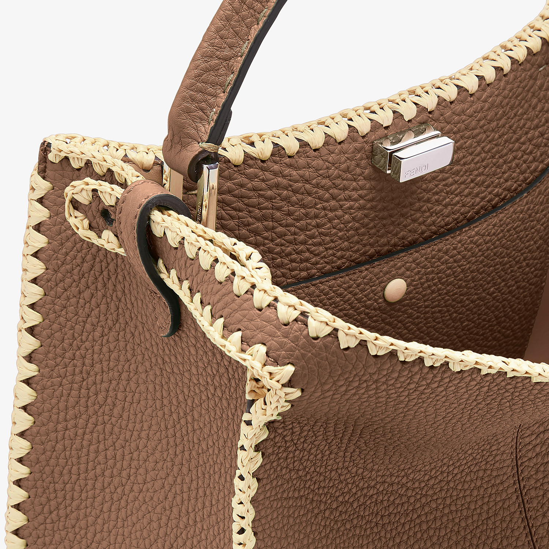 FENDI PEEKABOO X-LITE MEDIUM - Brown leather bag - view 6 detail