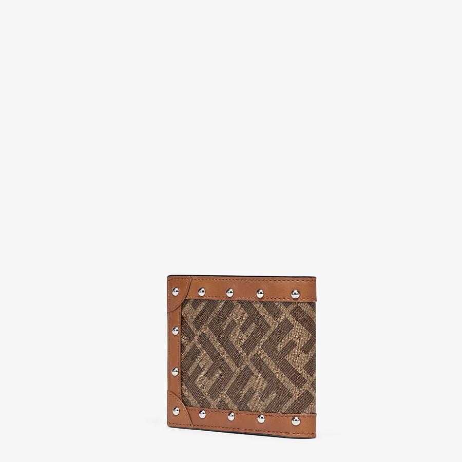 FENDI WALLET - Brown fabric bi-fold - view 2 detail