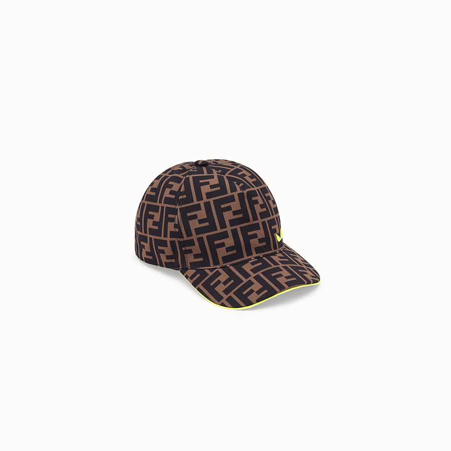 FENDI HAT - Brown canvas hat - view 1 detail