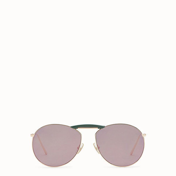 FENDI GENTLE Fendi No. 2 - Copper-coloured sunglasses - view 1 small thumbnail