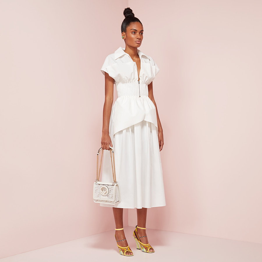 FENDI DRESS - White cotton dress - view 4 detail
