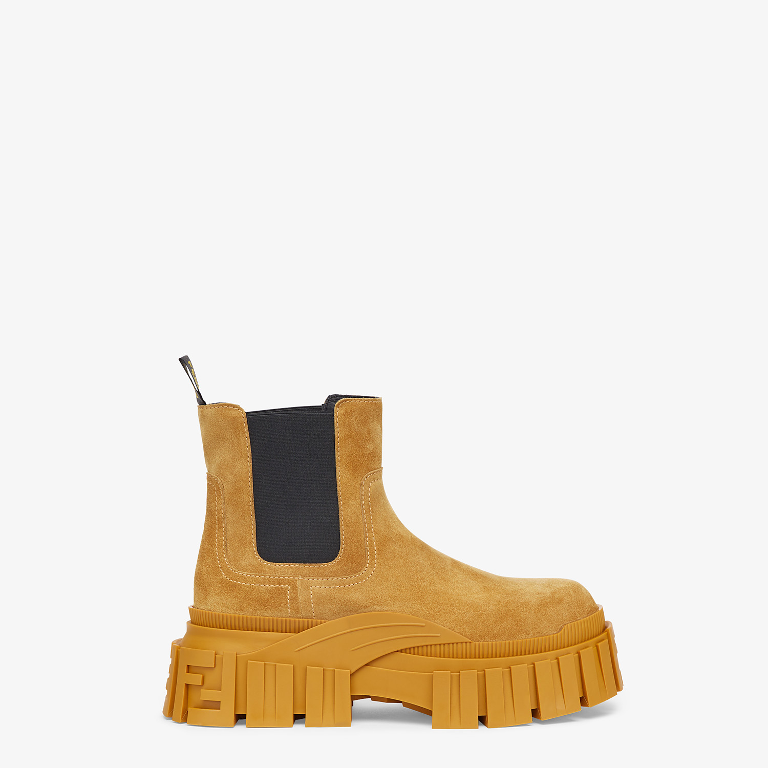 FENDI FENDI FORCE - Yellow suede Chelsea boots - view 1 detail