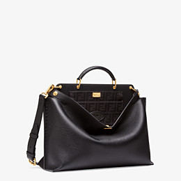 FENDI PEEKABOO ICONIC ESSENTIAL - Black leather bag - view 2 thumbnail