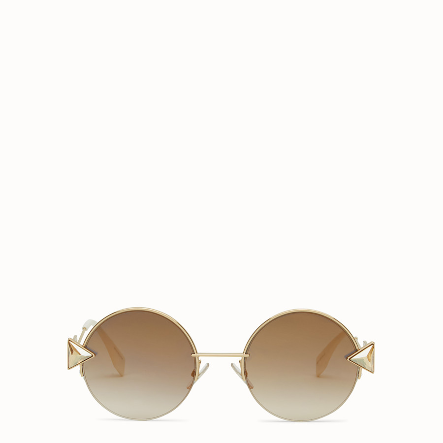 FENDI RAINBOW - Gold sunglasses. - view 1 detail