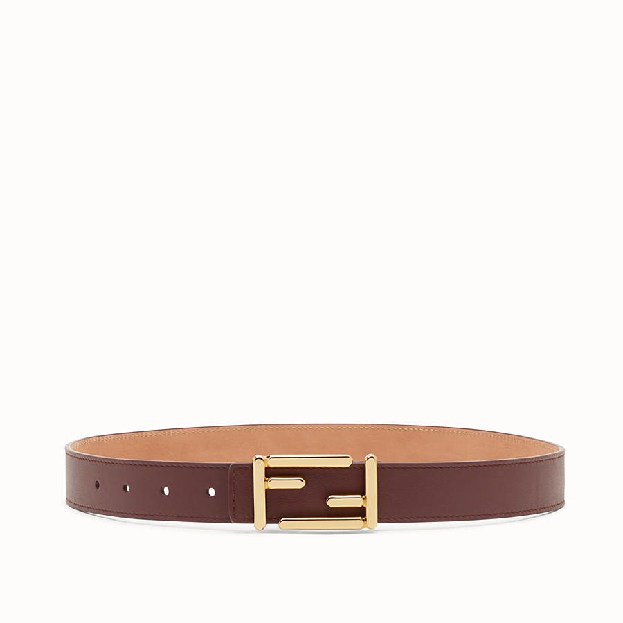 FENDI BAGUETTE BELT - Leather belt with Baguette buckle - view 1 detail
