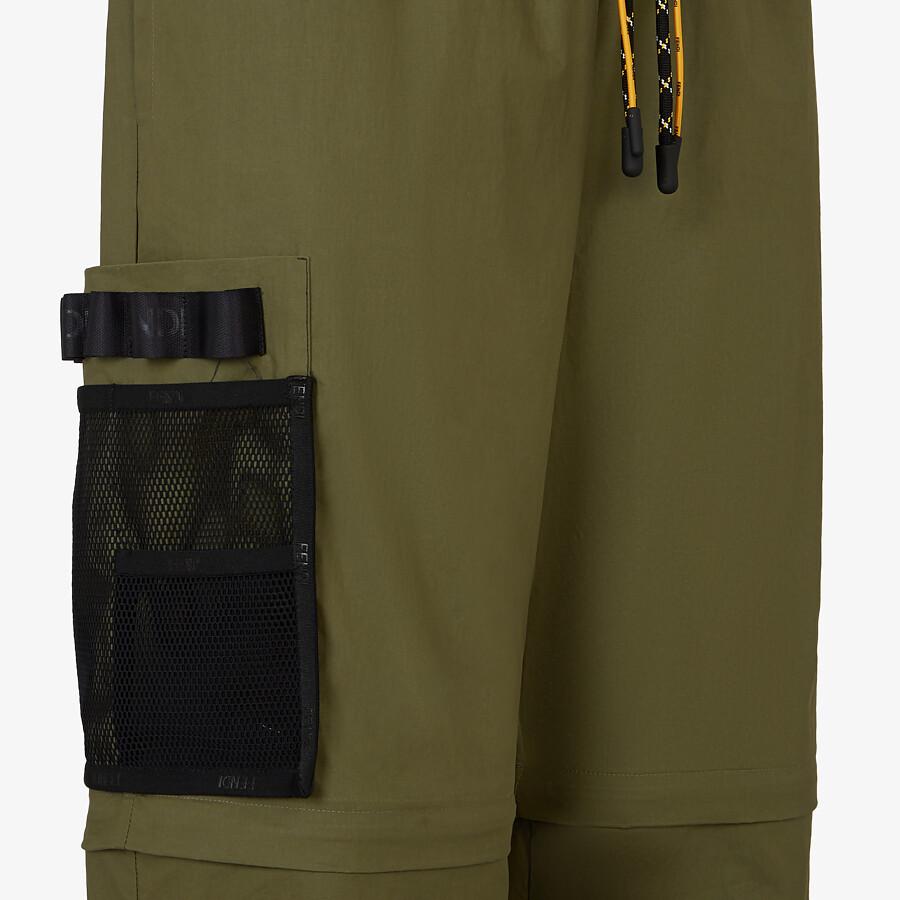 FENDI PANTS - Green nylon pants - view 3 detail