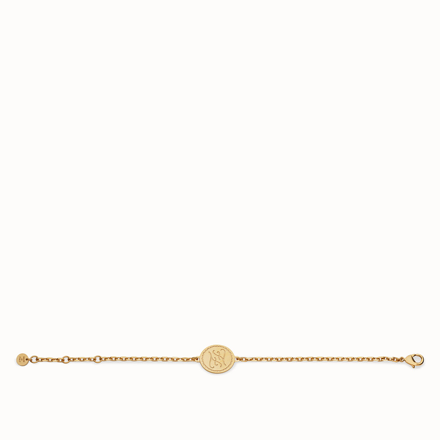 FENDI KARLIGRAPHY BRACELET - Gold-colour bracelet - view 1 detail