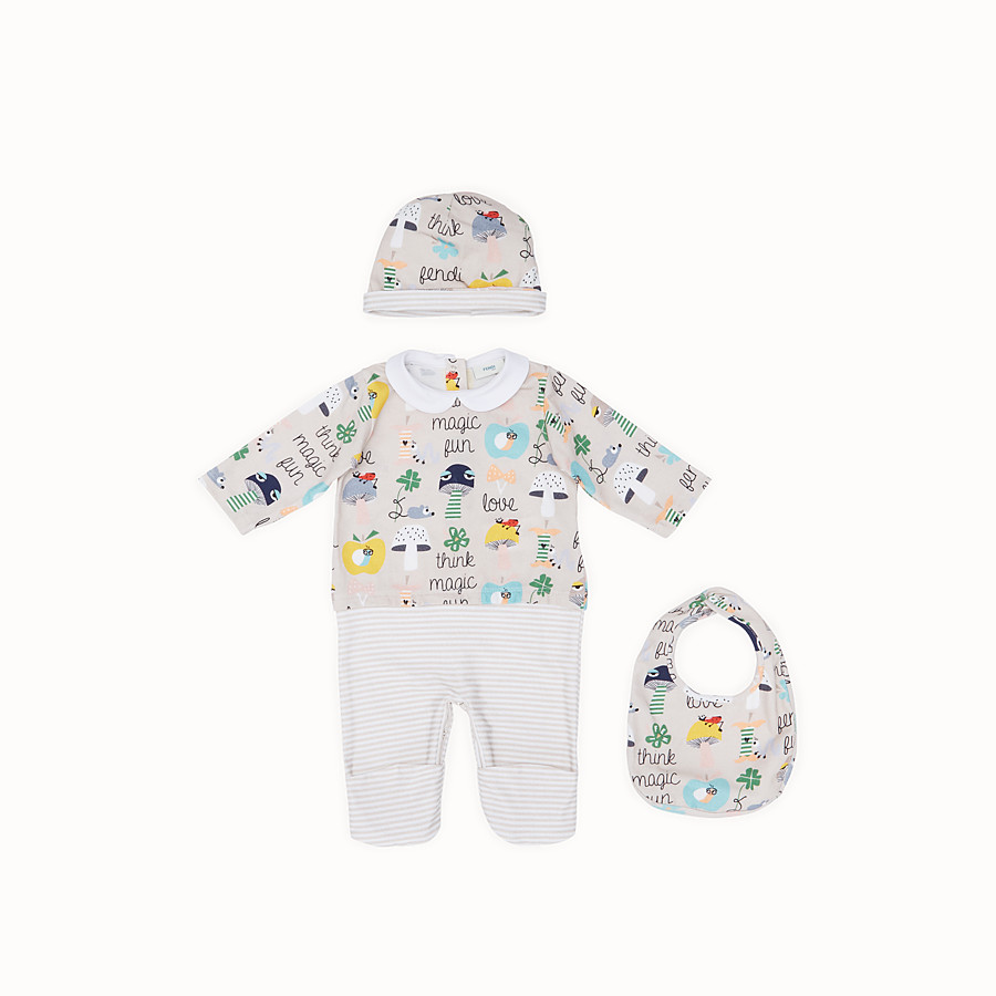 FENDI BABY BUNX KIT - Printed and multicolour cotton Baby Boy Kit - view 1 detail