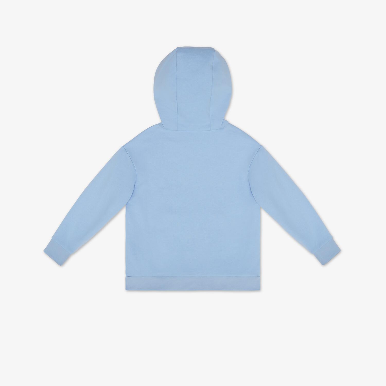 FENDI JUNIOR SWEATSHIRT - Light blue cotton junior sweatshirt - view 2 detail