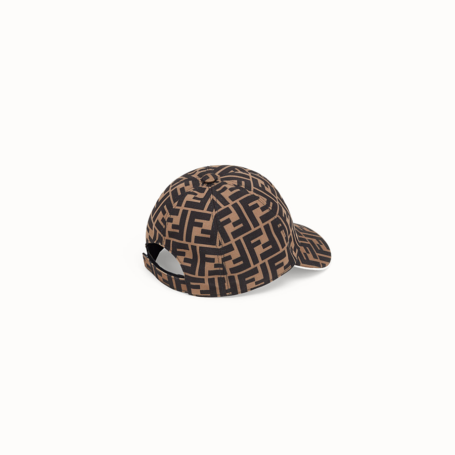 FENDI BASEBALL CAP - Tobacco canvas baseball cap - view 2 detail