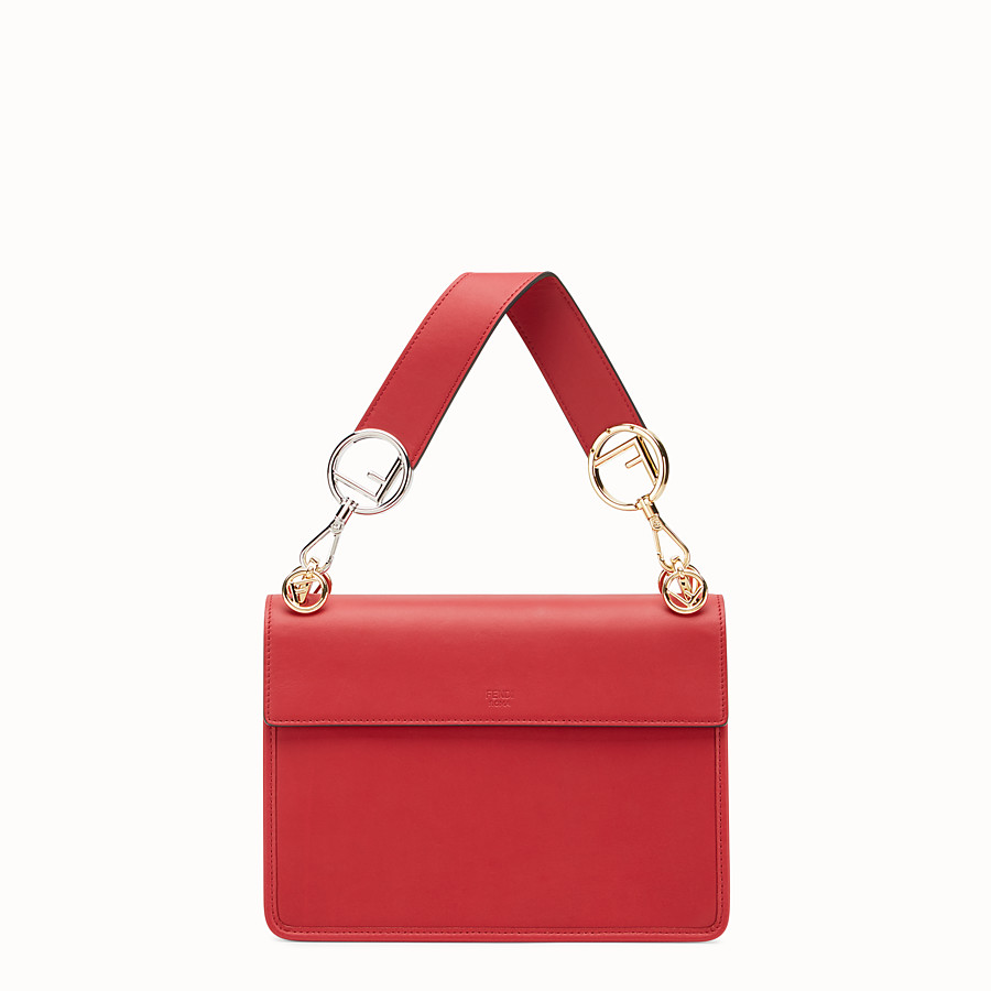 FENDI KAN I F - Red leather bag - view 3 detail