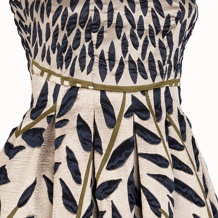 FENDI DRESS - White fabric dress - view 3 detail