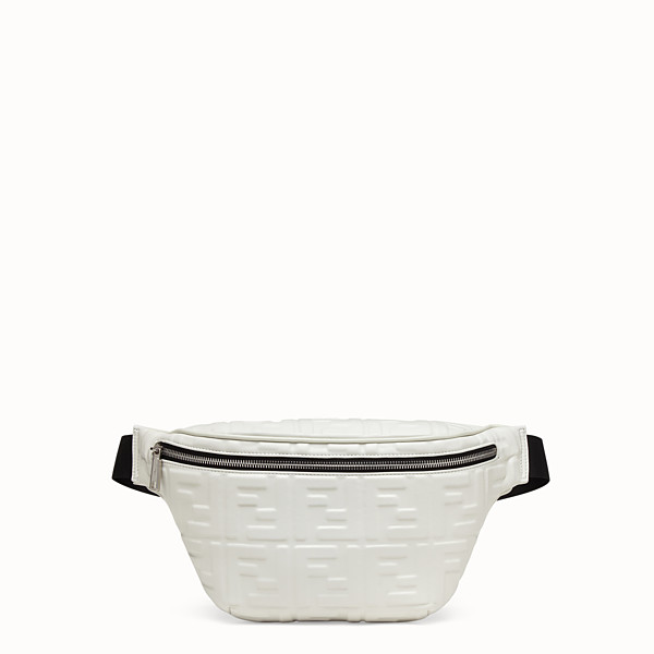 FENDI BELT BAG - White nappa leather belt bag - view 1 small thumbnail