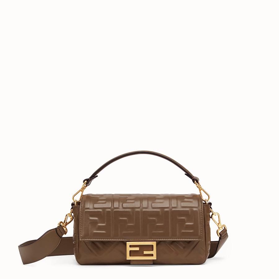 FENDI BAGUETTE - Green nappa leather bag - view 1 detail
