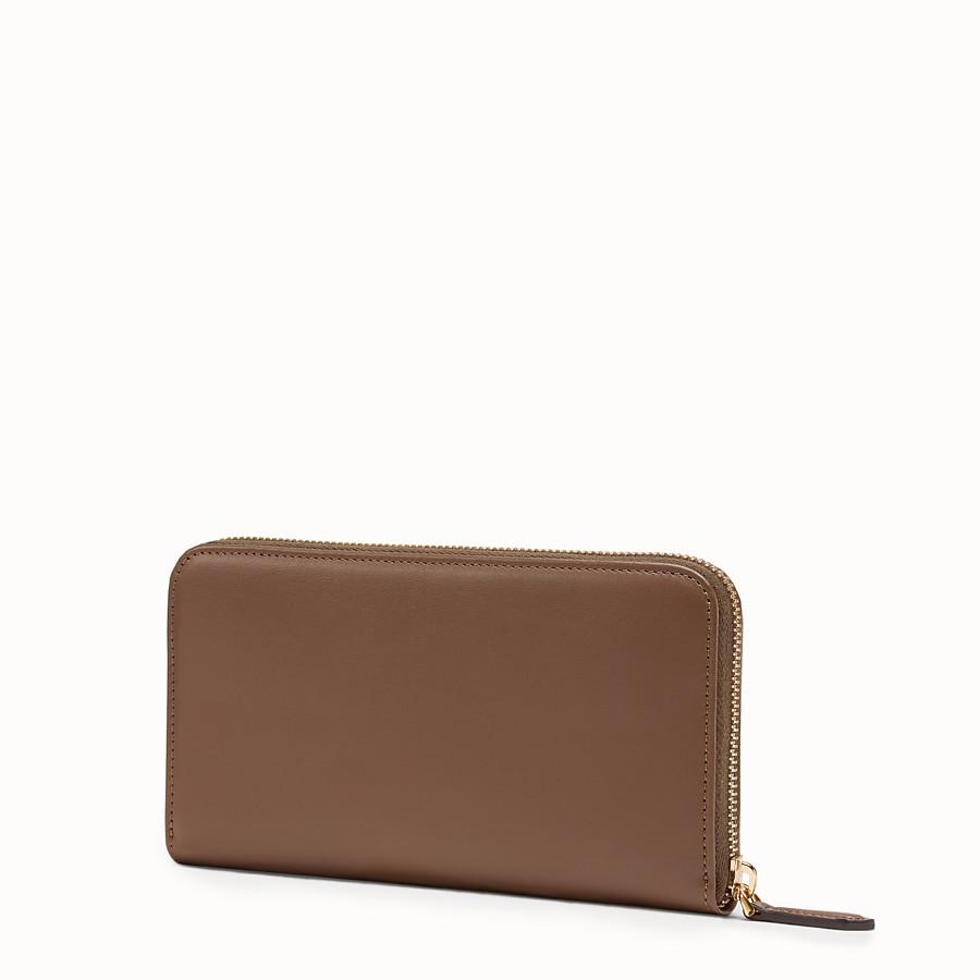 FENDI ZIP-AROUND - Brown leather wallet - view 2 detail