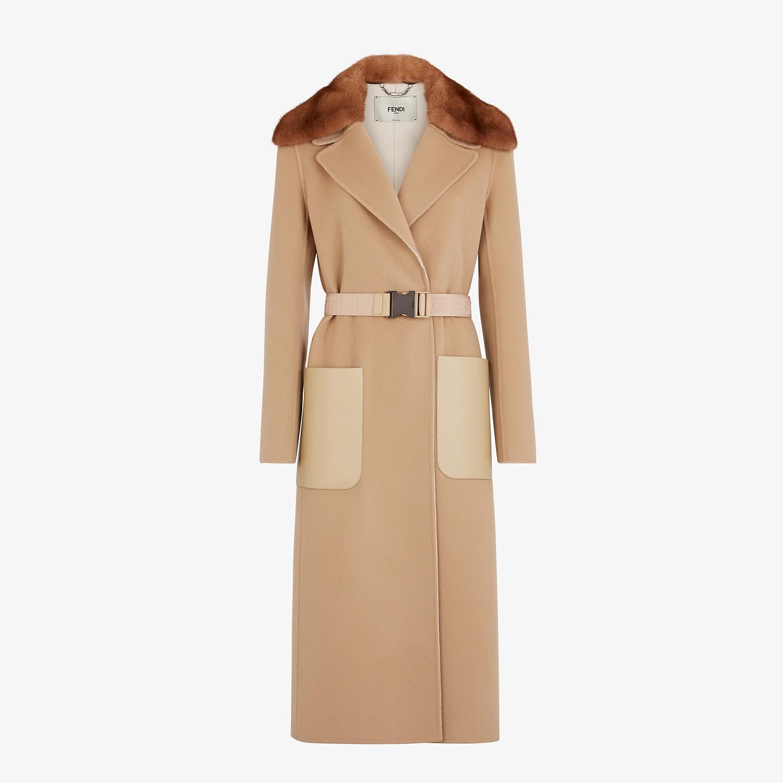 FENDI COAT - Beige cashmere coat - view 1 detail
