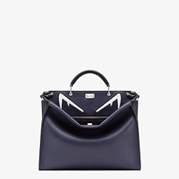 FENDI PEEKABOO ICONIC FIT - Tasche aus Leder in Blau - view 1 thumbnail