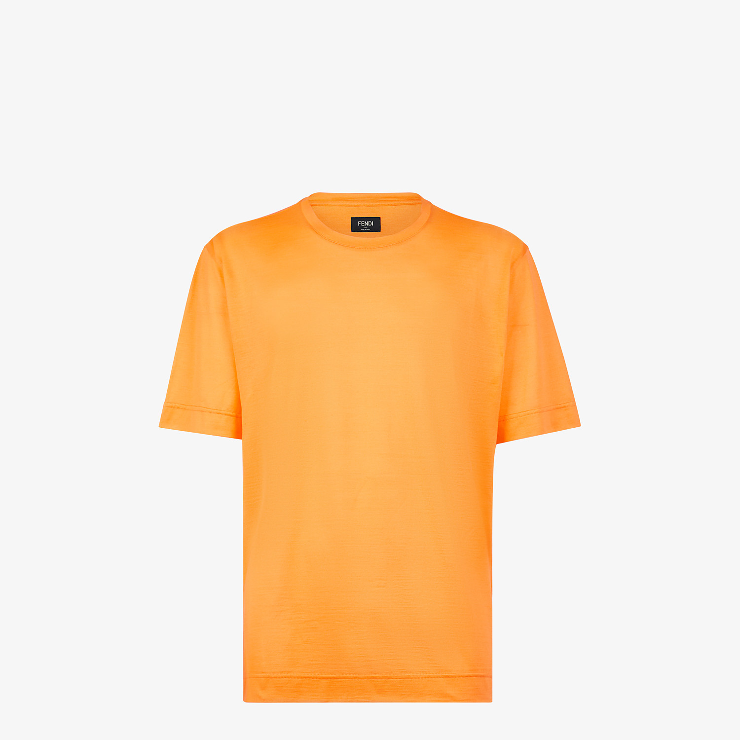 FENDI T-SHIRT - Orange silk T-shirt - view 1 detail