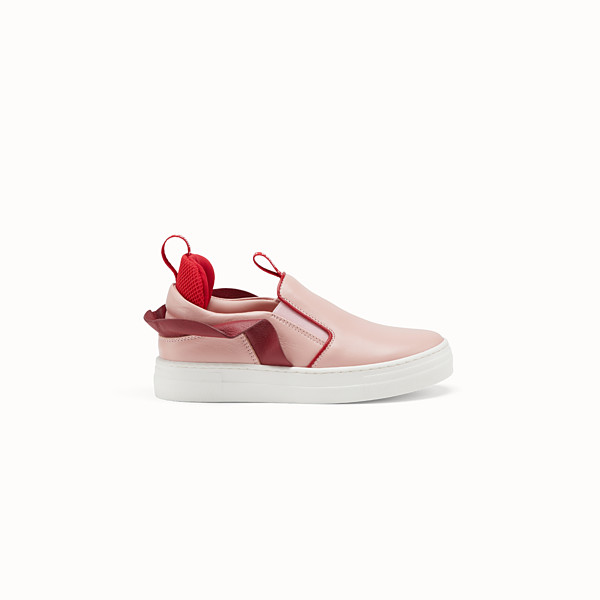 FENDI SLIP-ONS - Pink leather slip-ons - view 1 small thumbnail