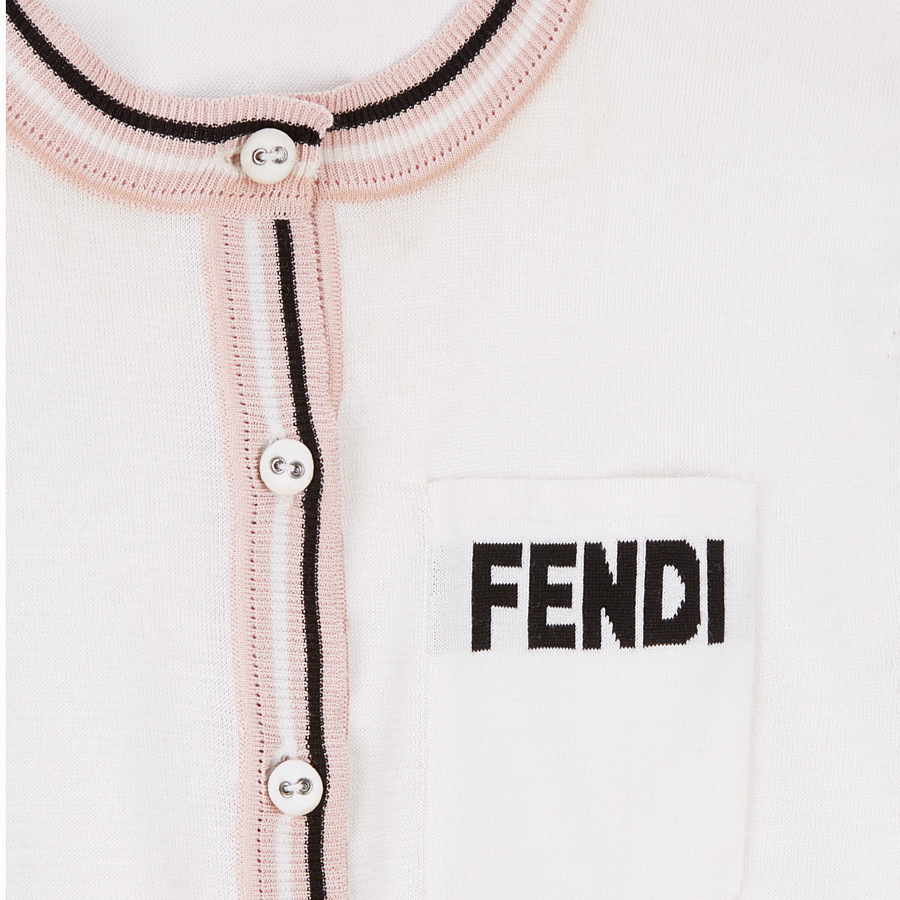 FENDI JUMPER - White silk jumper - view 3 detail