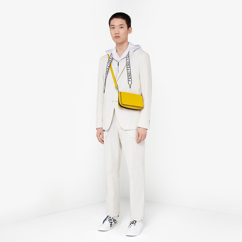 FENDI FLAP BAG - Yellow nappa leather bag - view 7 detail
