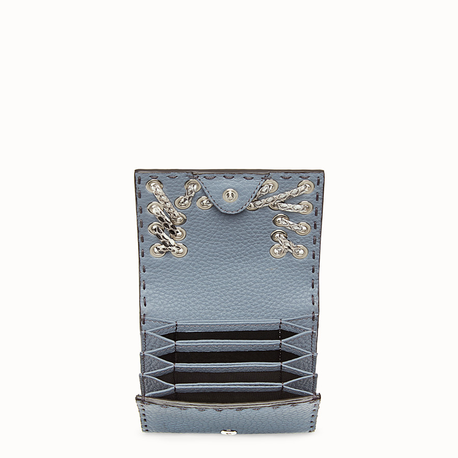 FENDI CARD HOLDER - Mini leather and elaphe wallet - view 4 detail