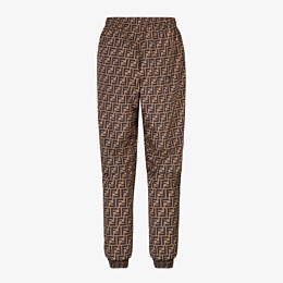 FENDI PANTS - Brown nylon pants - view 2 thumbnail
