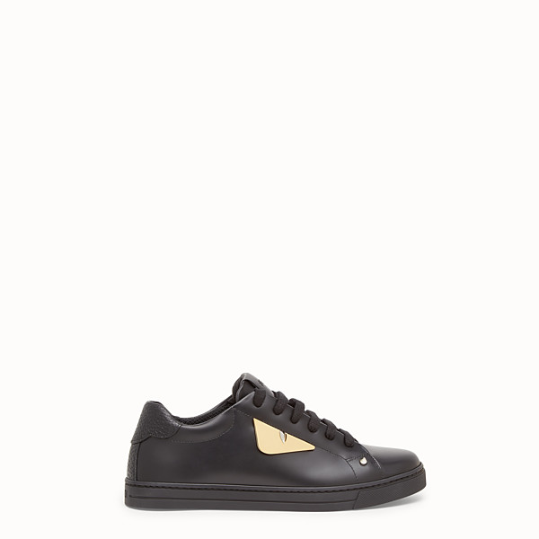 FENDI SNEAKERS - Black leather sneakers - view 1 small thumbnail