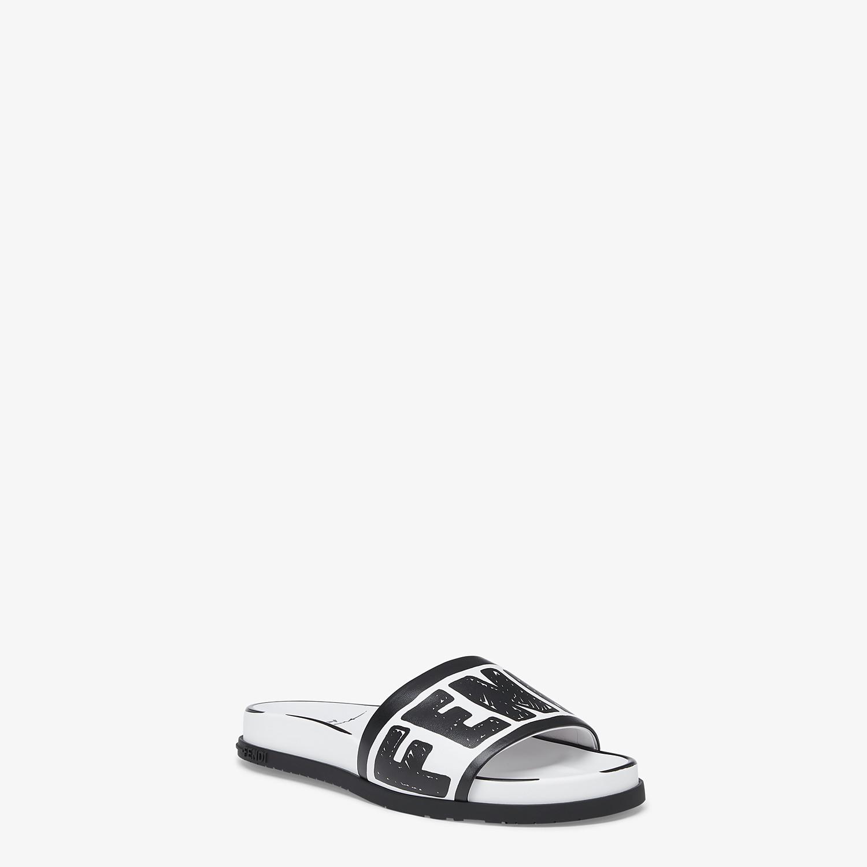 FENDI SANDALS - Fendi Roma Joshua Vides leather Fussbett sandals - view 2 detail