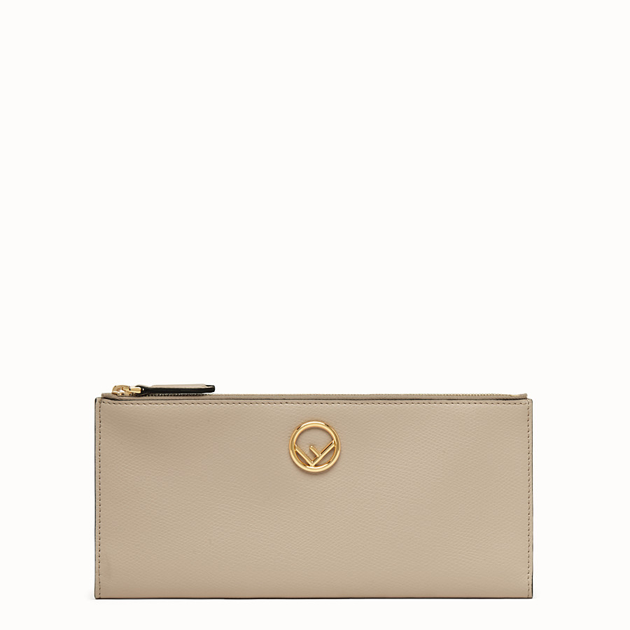 FENDI BIFOLD - Beige leather wallet - view 1 detail