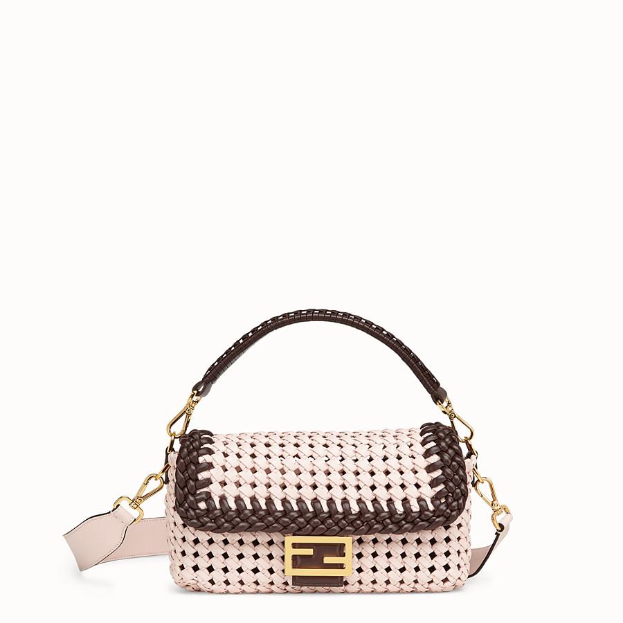 FENDI BAGUETTE - Pink leather interlace bag - view 1 detail
