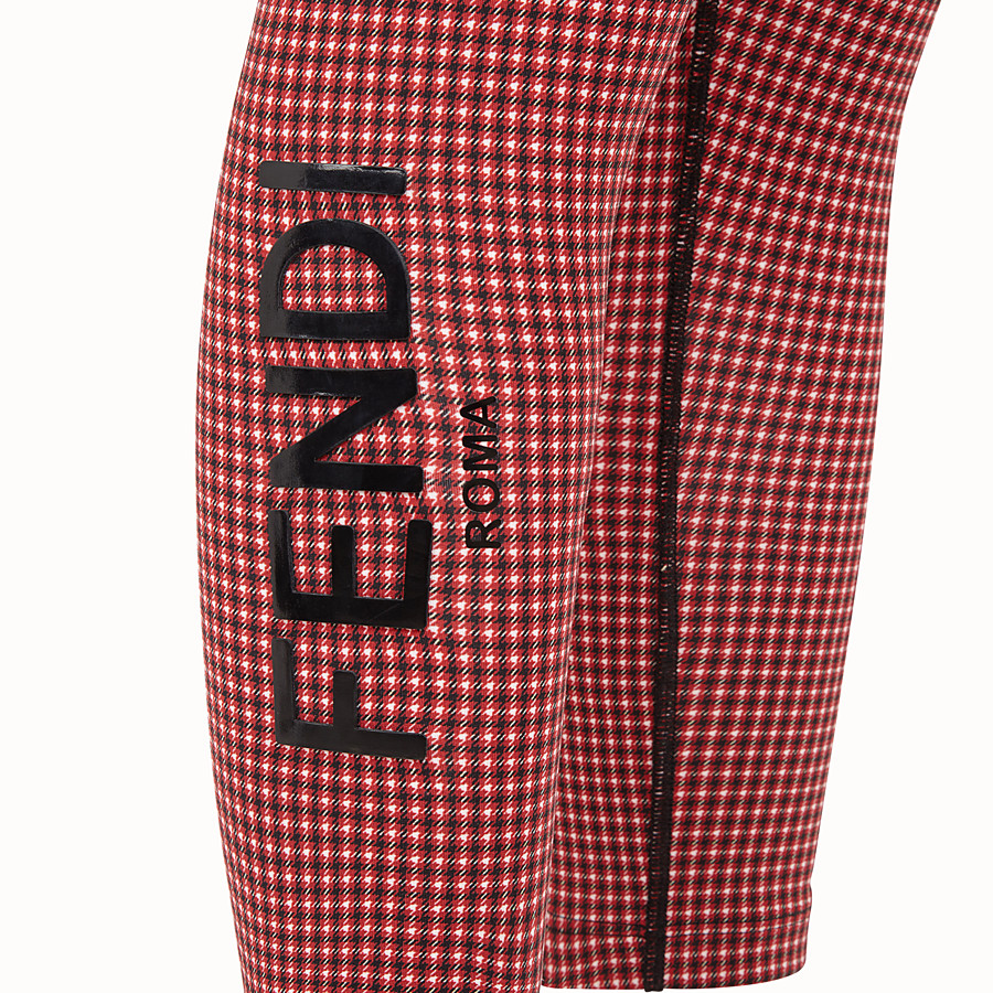 FENDI LEGGINGS - Multicolor tech fabric pants - view 3 detail