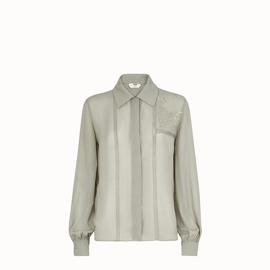FENDI SHIRT - Green cotton shirt - view 1 detail