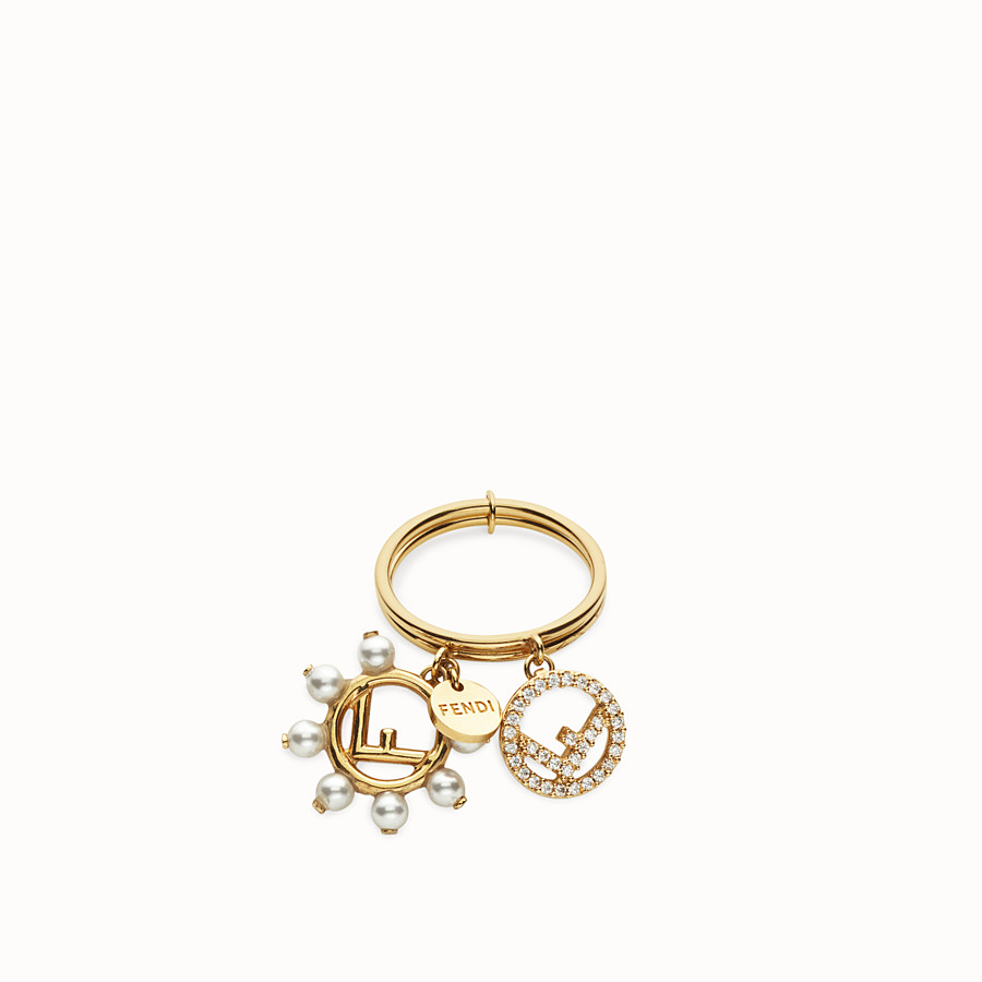 FENDI F IS FENDI RING - Gold-colour ring - view 2 detail