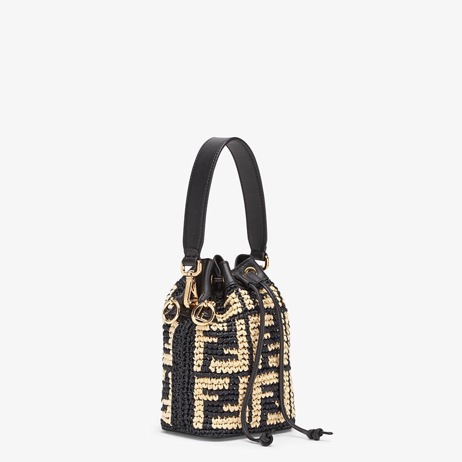 FENDI MON TRESOR - Black raffia mini-bag - view 2 detail