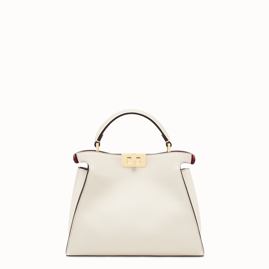 FENDI PEEKABOO ESSENTIAL - White leather bag - view 3 detail