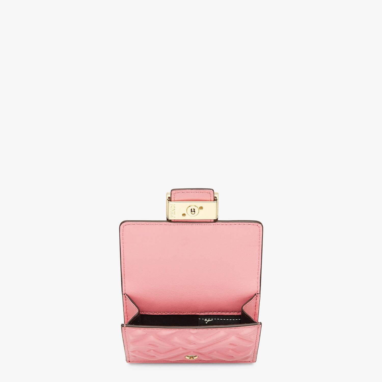 FENDI MICRO TRIFOLD - Pink nappa leather wallet - view 3 detail