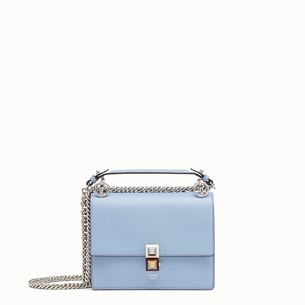 FENDI KAN I SMALL - Light blue leather mini-bag - view 1 small thumbnail