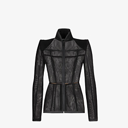 FENDI JACKET - Black micromesh jacket - view 1 thumbnail