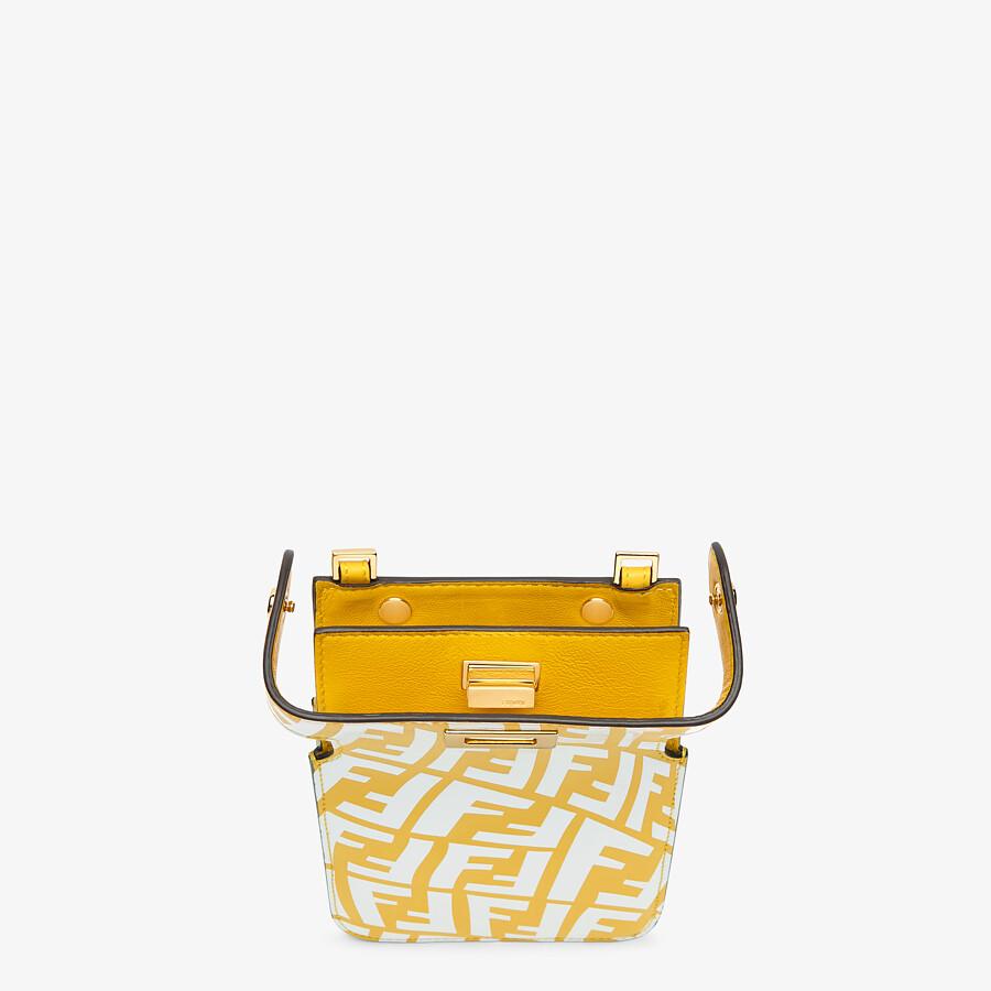 FENDI PEEK-A-PHONE - Yellow leather pouch - view 3 detail