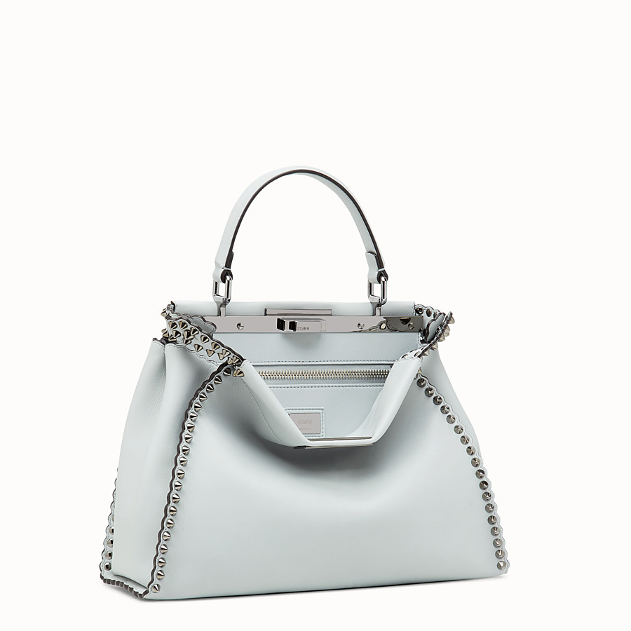 FENDI PEEKABOO REGULAR - Pale blue leather bag - view 2 detail